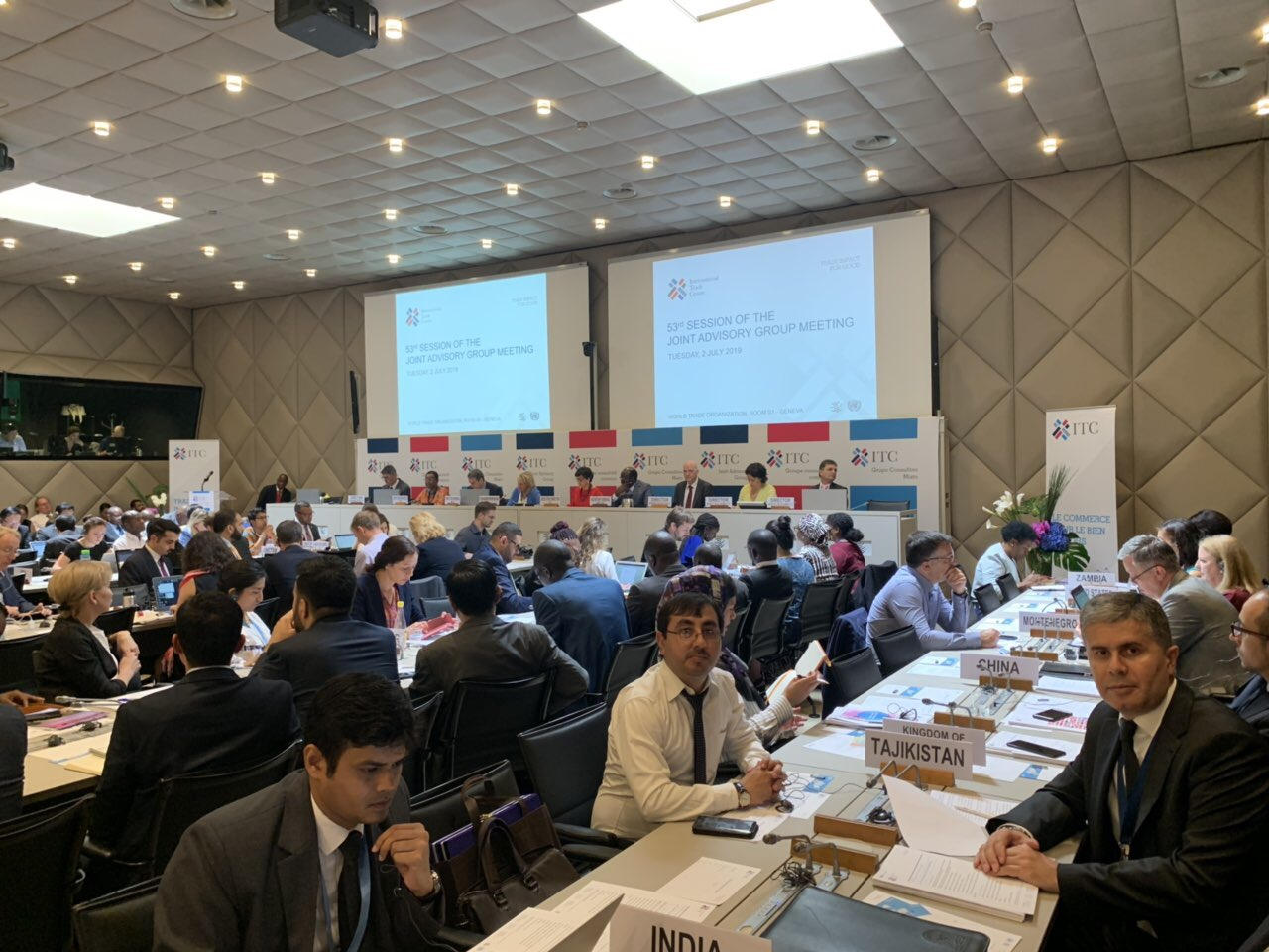 Introduction of the Republic of Tajikistan's trade sector achievements in the 53rd annual session of the Joint Advisory Group of International Trade Centre