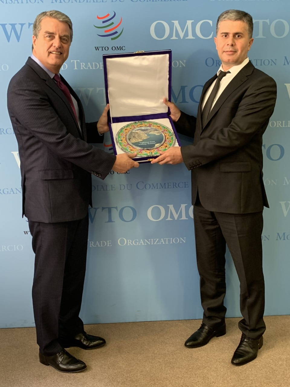 Tajikistan presented to the Director General of the World Trade Organization Mr. Roberto Azevedo Instrument of Acceptance of the Protocol Amending the Marrakesh Agreement Establishing the World Trade Organization